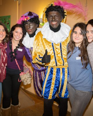 Intercultural Evening Sinterklaas, with black petes.