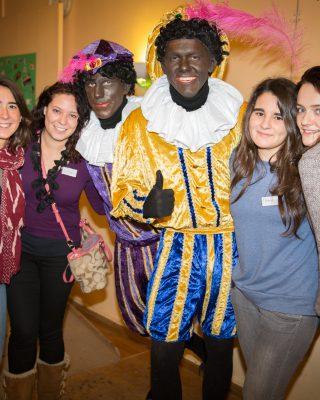 Intercultural Evening Sinterklaas, with black petes.